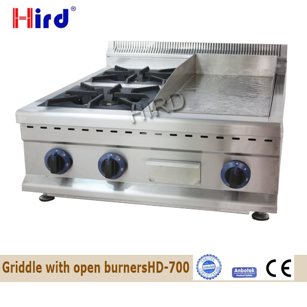 Griddles with Open Burners Combination Two Open Burners and 10 inch Grill Plate