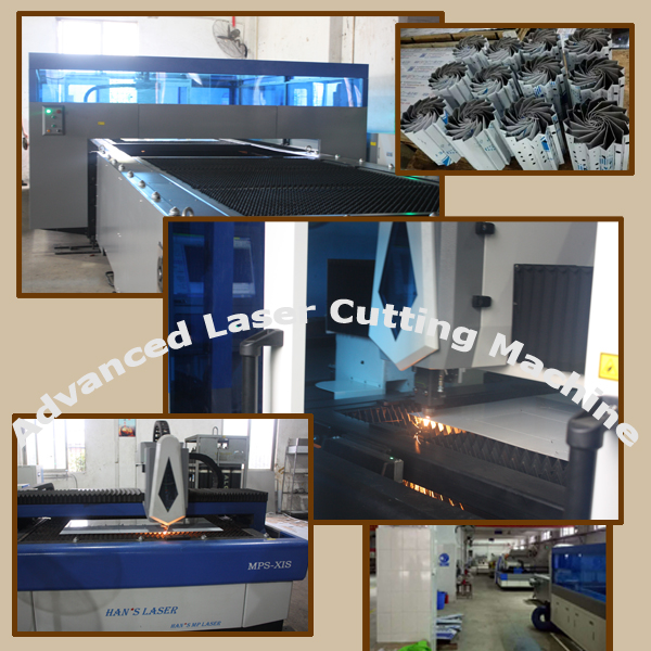 Laser cutting machine for kitchen equipment