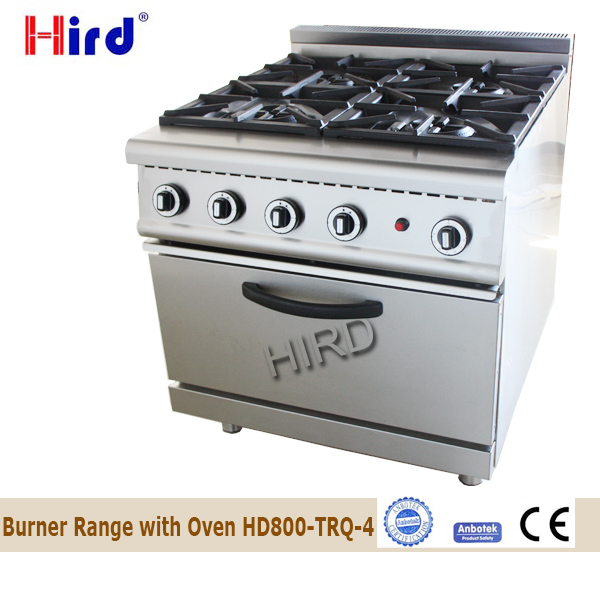 Heavy duty Commercial 26 Inch Gas 4 Burner Range with Oven